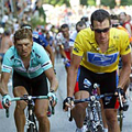 Jan Ullrich & Lance Armstrong at 2003 Tour de France